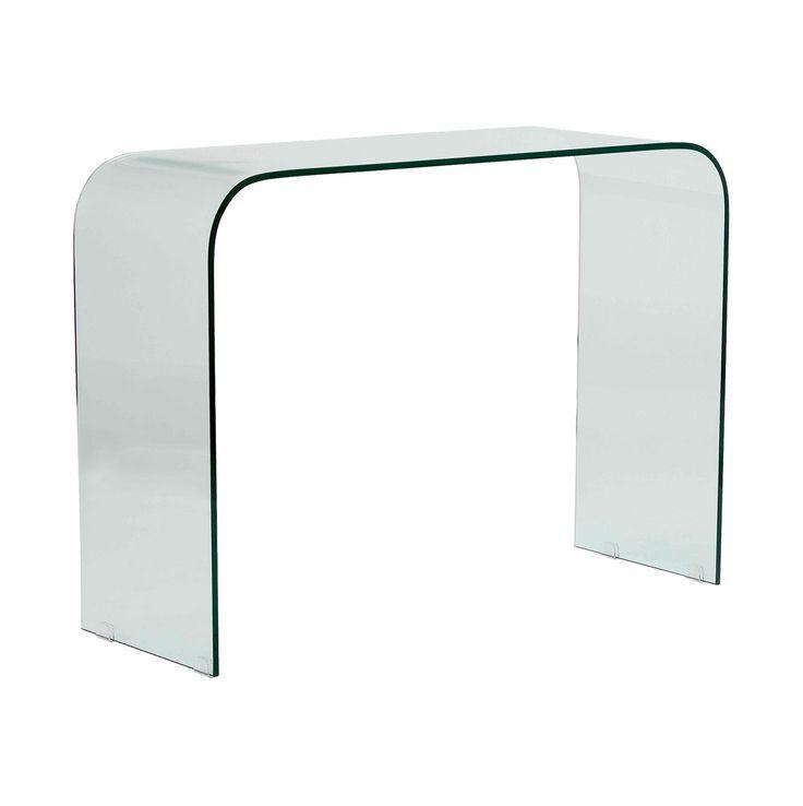 Consola en cristal transparente recibidores pinterest - Console transparente design ...