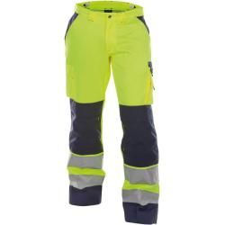 Dassy Safety Chicago – Warnschutz Bundhose mit Kniepolstertaschen – neonorange/dunkelblau – standard