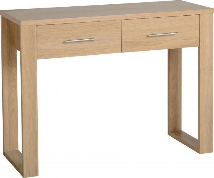 Kingston 2 Drawer Dressing Table in Euro Oak #DressingTablesets #DressingTables #Dressing