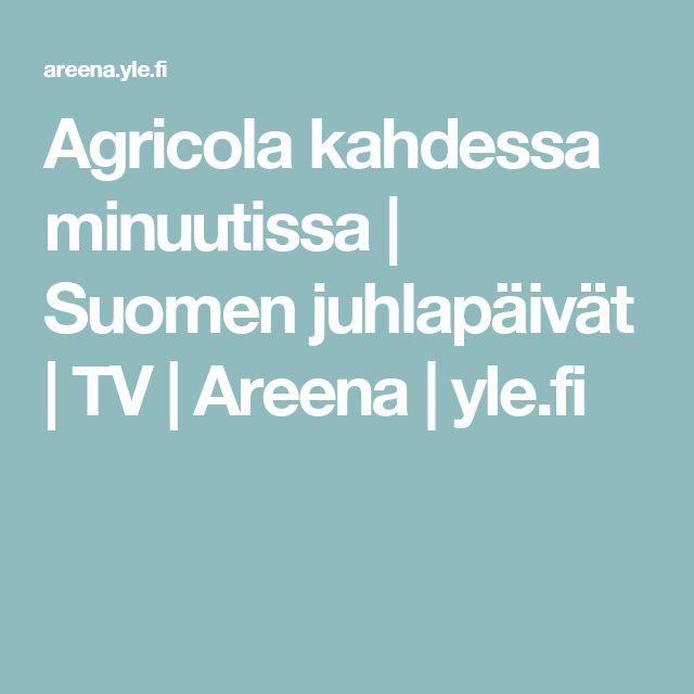 Agricola kahdessa minuutissa   Suomen juhlapäivät   TV   Areena   yle.fi