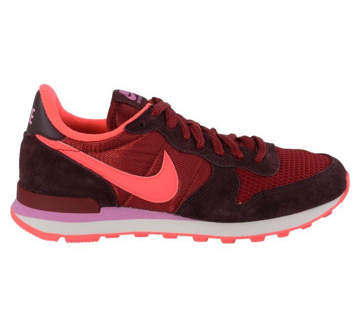 Fraaie Nike Internationalist Sneakers Dames (donkerrood - roze) Sneakers van het merk Nike voor Dames . Uitgevoerd in donkerrood - roze gemaakt van Textiel|suede|leer|rubber|leer|rubber.