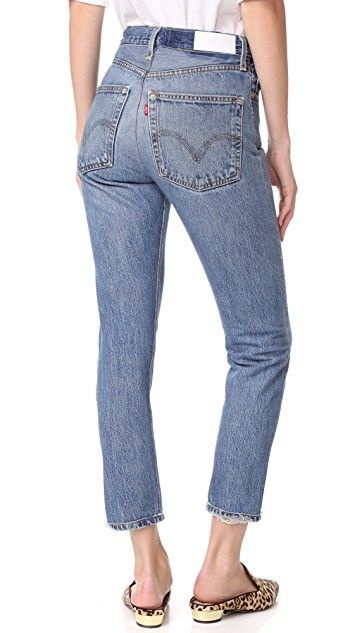 3202fe12a5119 RE DONE x Levi s High Rise Ankle Crop Jeans