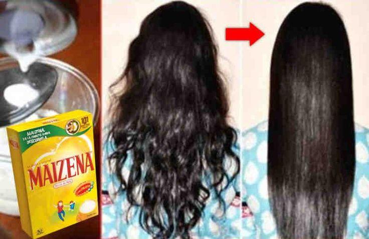 Comment réparer et redresser les cheveux naturellement avec de la crème de fécule de maïs. Ingrédients : + 1 tasse de lait, + 2 cuillères à soupe de fécule de maïs, + 2 gouttes d'huile d'argan.