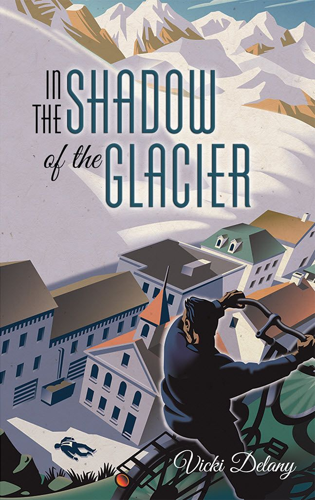 'In the Shadow of the Glacier' book cover illustrated by ©Gary Alphonso. Represented by i2i Art Inc. #i2iart