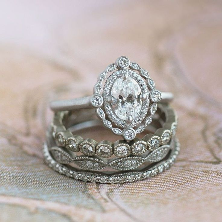 sneak preview of one of newest engagement rings launching online this week this platinum - Stacked Wedding Rings
