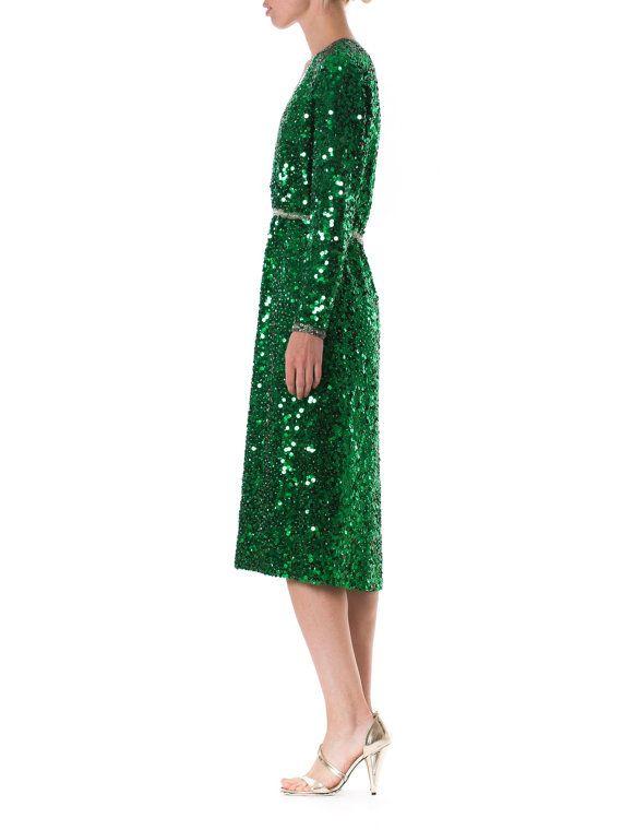 Emerald color cocktail dress