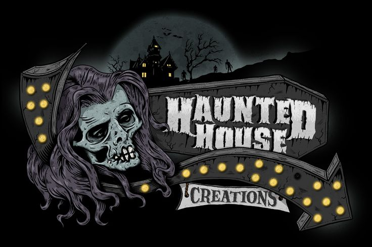 Haunted House Creations logo illustration - www.bofagroup.com
