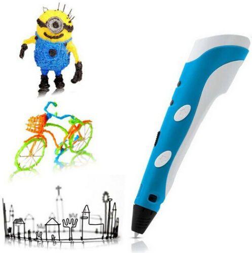 NEW First Generation DIY 3D Printer Pen For Kids AU/US/UK/EU plug With ABS Filament 1.75mm colorful 3D printer pen
