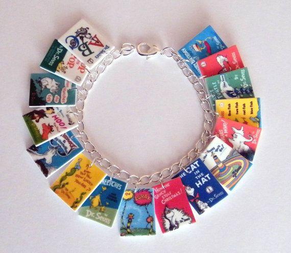 Dr. Seuss  Book Cover Charm Bracelet | etsy