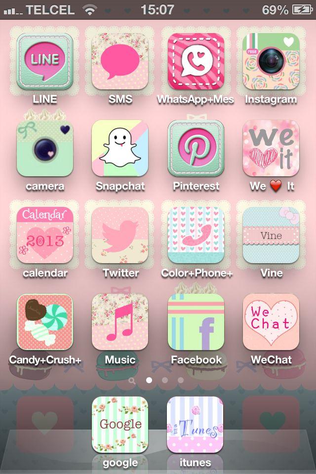 Cute app icons sweet iphone Imagenes para iphone, Fondos