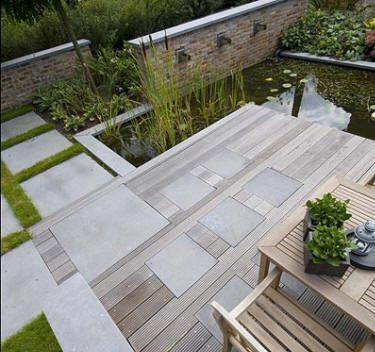 dalle beton lisse gris boisjpg 375 352 pixels - Pose De Carrelage Exterieur Sur Chape Beton