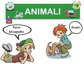 Vocabulary in Italian. Learn how to say the names of pets.