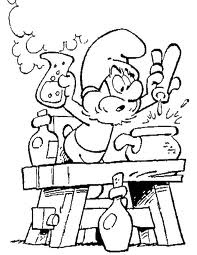 The Smurfs, coloring page