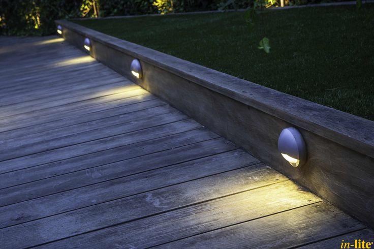 Houten vlonder | Tuinverlichting | Wandlamp BLINK | 12V | Outdoor lighting