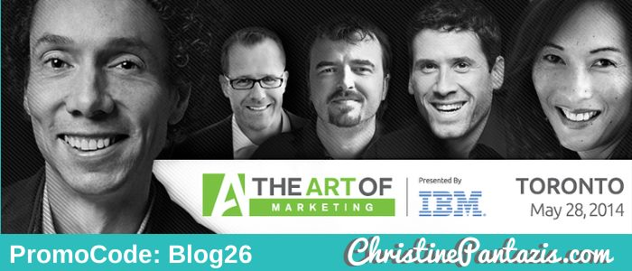 The Art Of Marketing – Toronto – 2014 @Vanessa Moyonero #TheArtOf #Marketing #PromoCode #ChristinePantazis