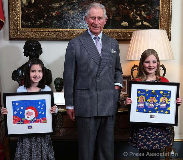 #RoyalMail #Christmas #Stamp Design Competition winners at #ClarenceHouse