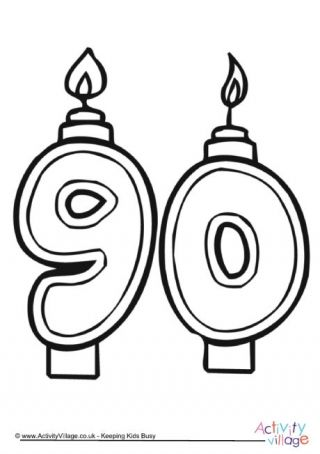 90th Birthday Candles