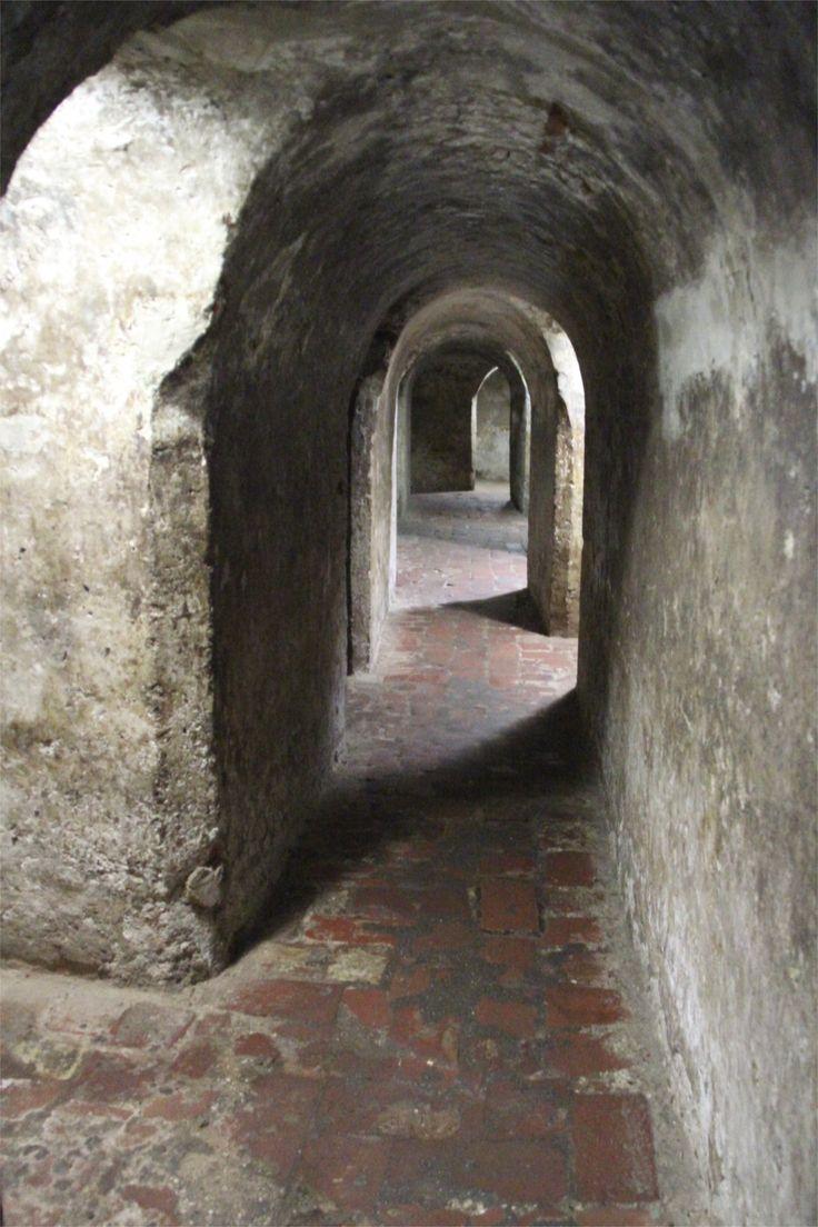Tunnels beneath the CASTILLO DE SAN FELIPE.