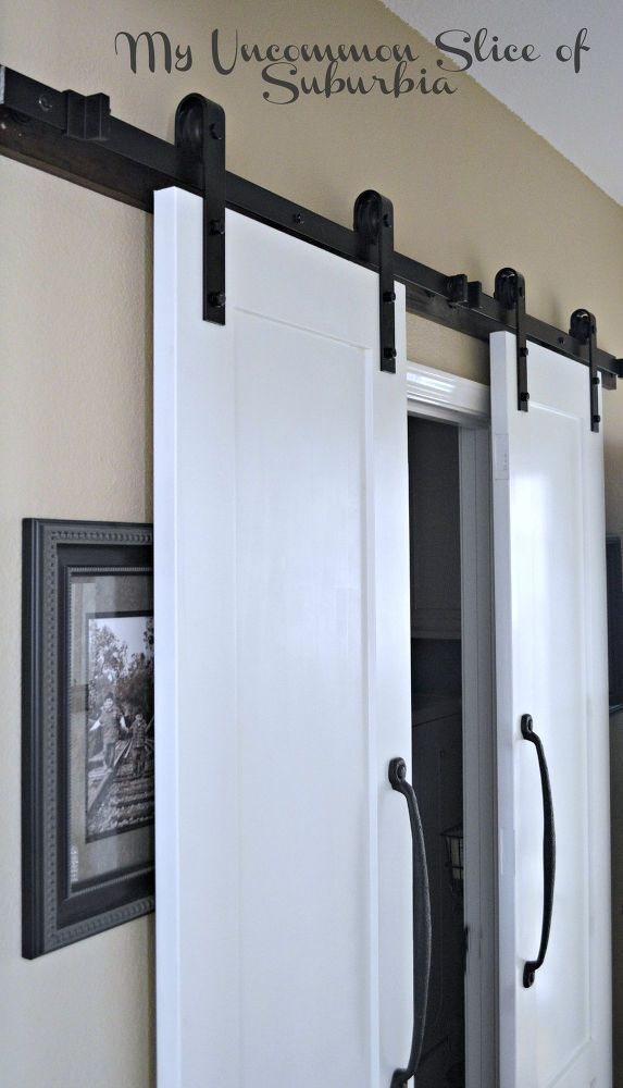 Hometalk | Maximize a Small Space With Barn Doors - I would like to change out the bi-fold doors on my bedroom closet and put these type of doors in their place so I have more room for my dresser!