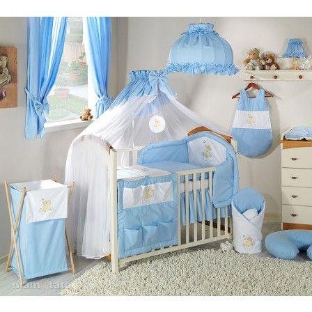 Parure lit bébé bleu Ours Nuage pas cher