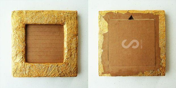Diy Bilderrahmen Aus Pappe Und Schokolade Wrapper Schritt 7