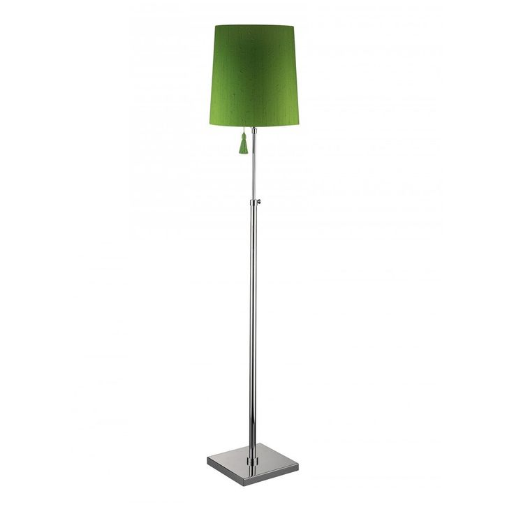Heathfield & Co Edgar Floor Lamp Peridot Nickel
