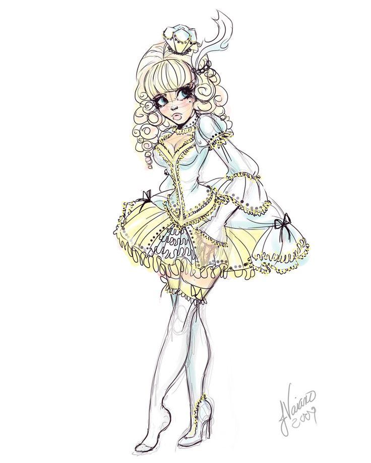 Lolita Cinderella Sketch by NoFlutter.deviantart.com on @deviantART