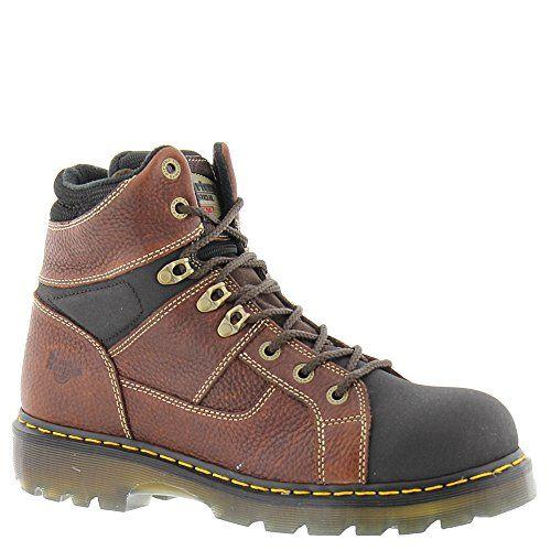 new products ee75e 72ab6 Dr. Martens Unisex Ironbridge Tec-Tuff ST 8 Tie Boots, Br...  mens shoes   Pinterest  Dr martens