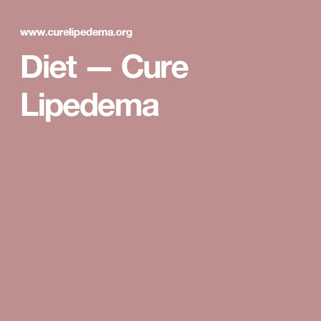 Diet — Cure Lipedema
