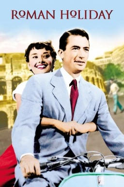 Roman Holiday movie poster with Audrey Hepburn & Gregory Peck just like in Mark of Athena. It's real!