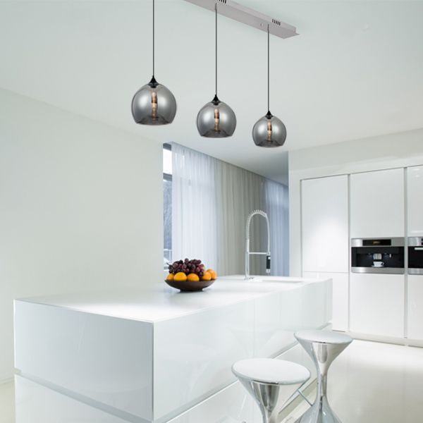 Bella replica #pendant lights on a 3 bar canopy from #Micalighting