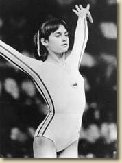 At the age of 14, Comaneci became one of the stars of the 1976 Summer Olympics in Montreal. During her routine on the uneven bars she scored a 10.0, the highest score possible. It was the first time in modern Olympic gymnastics history that the score had ever been awarded. Comaneci won five Olympic gold medals in total and is one of the best-known gymnasts in the world.