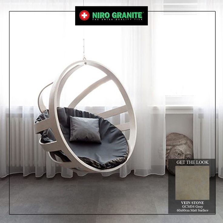 If you prefer a modern clean look, there are many hanging chairs with an eye-catching effect and undeniably fun for your everyday enjoyment inside the house. You can set in your living room, reading nook and even your bedroom. For a better and quality relaxation, enchance the splendour of your living space with GSV04 Grey from Vein Stone collection.