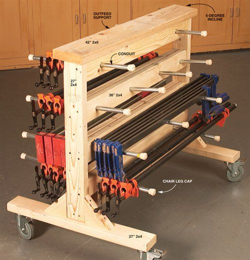 Double Duty Clamp Rack - Woodworking Shop - American Woodworker...