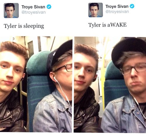 Tyler Okley  Troye Sivan  Tylers face in the second picture though!!!