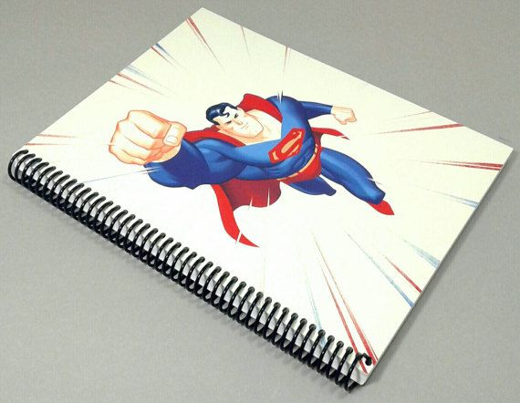 Spiral Notebooks Superman Superman Book by atomicrocketpoplab