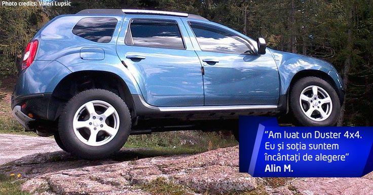 Duster 4x4 se descurcă bine pe teren accidentat. Sunteți și voi de acord cu Alin?