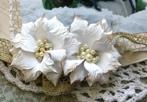 I have used these handmade flowers on several projects so I thought it would be time to provide a little tutorial.In changing the middle t...