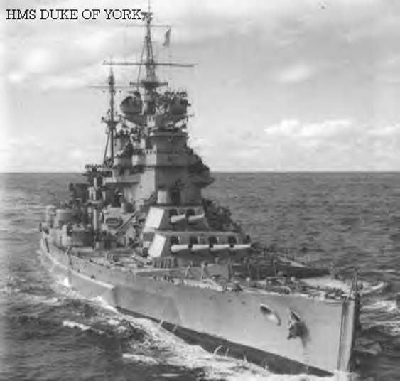 HMS Duke of York - Royal Navy 14 inch gunned battleship - King George V class (1939)