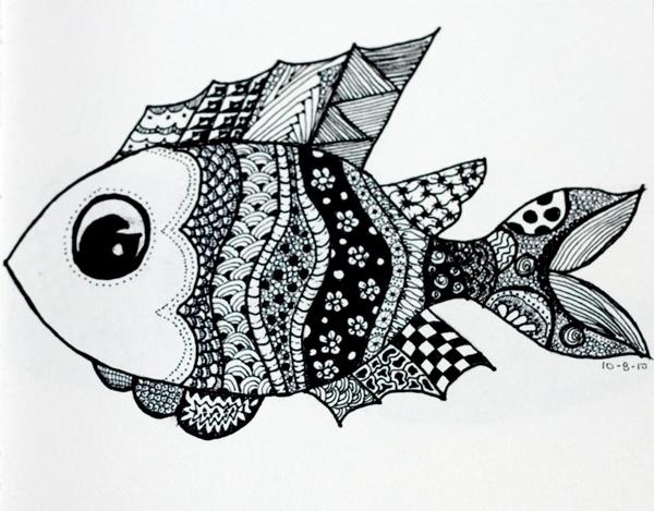 Pescadito en blanco y negro