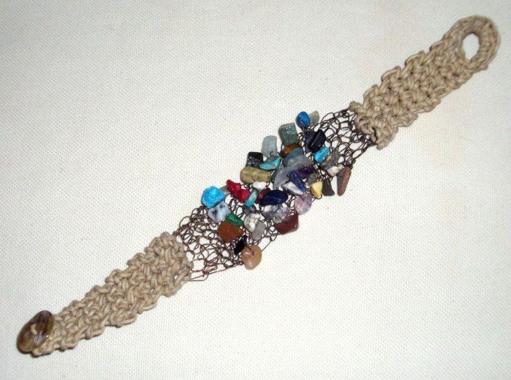 bracelet crocheted wire + cotton thread