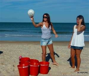 Beach Beer Pong. $65. Gonna have to DIY!!