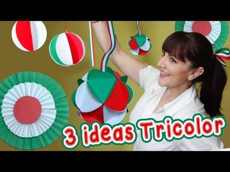 3 Ideas Tricolor Decorativas estilo Mexicano :: Chuladas Creativas :: Esferas de papel - YouTube