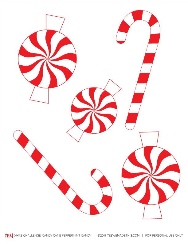 Candy Cane Printable Coloring Page - YES! we made this ...