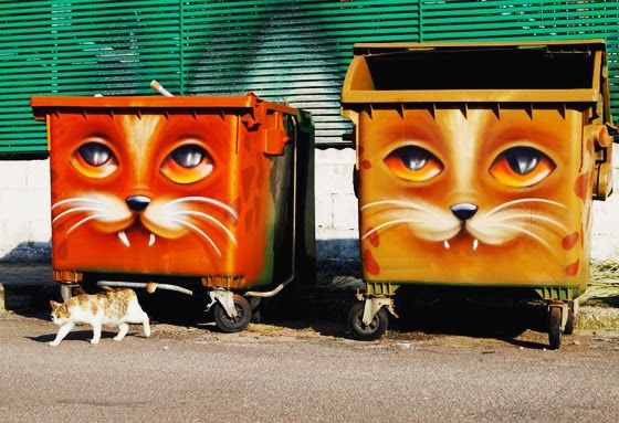 I USED TO BE SCARED OF CATS: Top 10 Cat Street Art/Graff