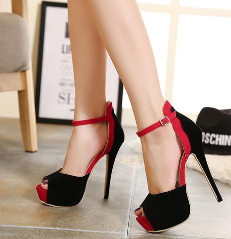 Womens Stylish P Toe Ankle Strap Stiletto High Heels