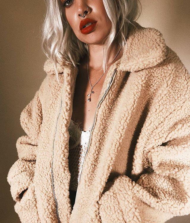 Teddy Coat Beige – Princess Polly USA