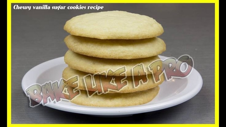 Easy Chewy Vanilla Sugar Cookies Recipe PREVIEW