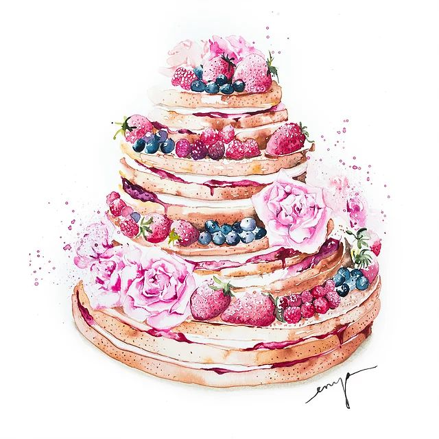 Create a unique artwork to mark your speical day. I am a UK based watercolour artist specialising in wedding cakes and flowers.