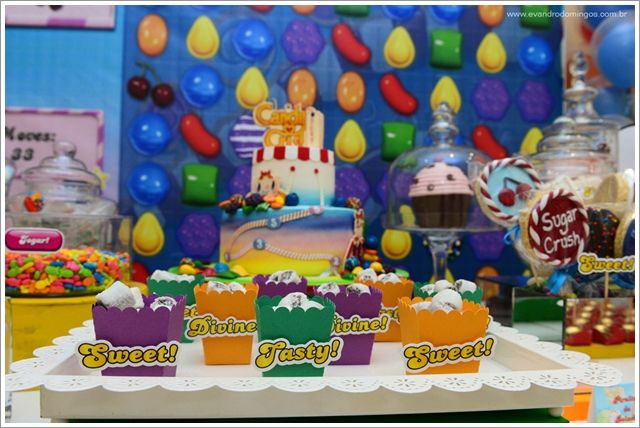 festa candy crush saga/ festa doces/ festa colorida/ candy crush party